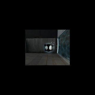Un cubo de redirección láser desintegrándose