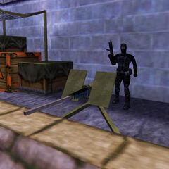 Comando Black Ops utilizando la Ametralladora