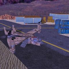 Osprey en la Pista del Control Aéreo de Black Mesa