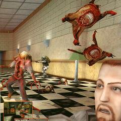 Varios Headcrab en una imagen Promocional de Half-Life