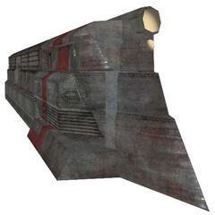 La versión temprana del frente de un tren razor.