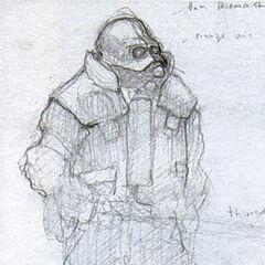 Concepto a lapiz del Soldado