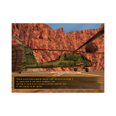 Spot publicitario mostrando el Apache en Black Mesa