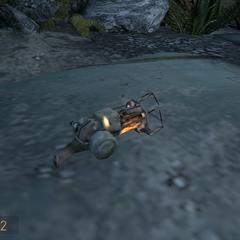 Pistola de Gravedad en el piso en Episode Two