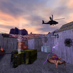 Voltigore enfrentándose a un Apache