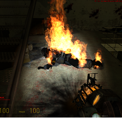 Combine ya muerto ardiendo