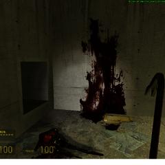 Un cuerpo quemado en un tunel