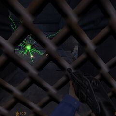 Guardia de Seguridad y Científicos siendo atacados por un Vortigaunt
