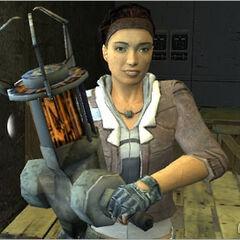 Alyx presentando la Pistola de Gravedad a Gordon por primera vez