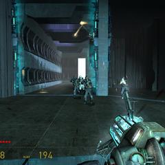 Soldados Overwatch Marchando hacia el jugador