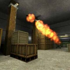 Ivan disparando un RPG, nótese el rastro de fuego antiguo