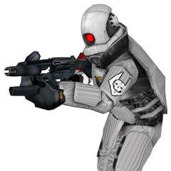 Modelo de Overwatch Elite con el Rifle de Pulso