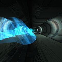 Túnel que conduce energía desconocida cerca del reactor del AirEx.