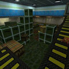 El almacén inundado.