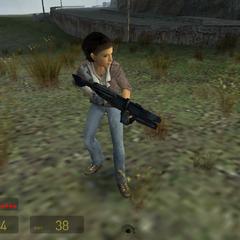Alyx con un Rifle de Pulso o AR2