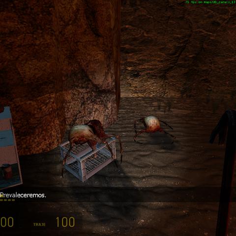 Headcrab en la caverna del Vort sabelotodo