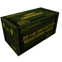 Caja que contenia la Ametralladora en el Almacén de Carga