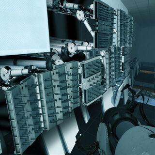 Cámara llena de trituradoras, concepto de <a href=