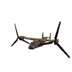 El osprey con las helices hacia delante