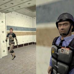 Guardia de Seguridad como aparece en Decay