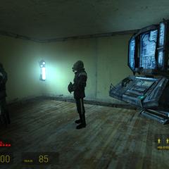 Metrocops en un puesto de Vigilancia