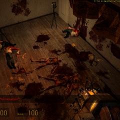 Varios zombies asesinados por torretas