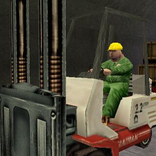 Gus dentro de un túnel