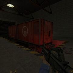 contenedor rojo de prisioneros
