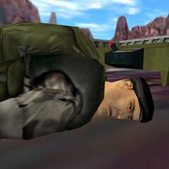 Cadáver de Cooper junto a la radio en HD