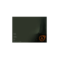 El menú de Half-Life 2 en 2003.