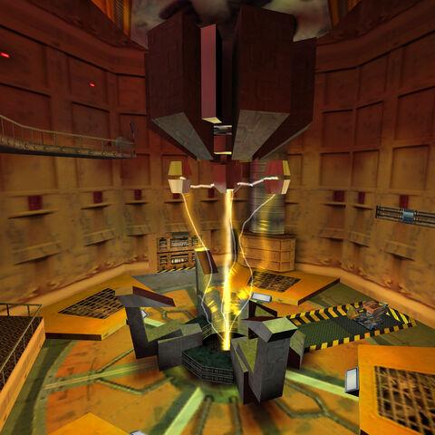 El Espectrómetro anti-materia poco antes de que empieze la Cascada de Resonancia.