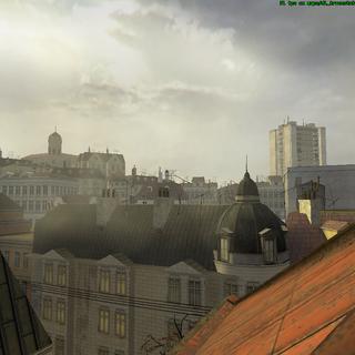 Una parte de la ciudad vista desde un techo