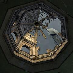 La cúpula destruída del Nexo.