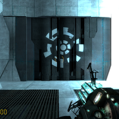Puerta Blindada con un logotipo en Episode One