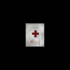 Textura del no usado Casillero de Primeros Auxilios con la cruz