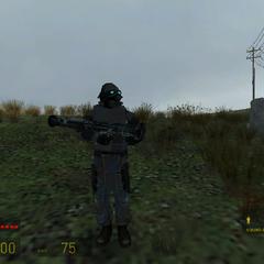 Soldado Overwatch equipado con el RPG(Spawneado con la consola)