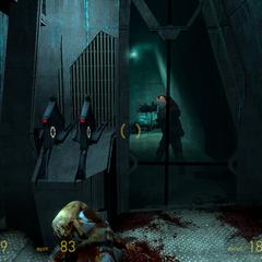 Zombine utilizando una granada en Episode One