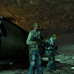 Grupo de rebeldes con Rifles de Pulso