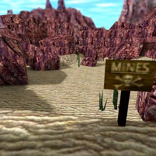 Campo minado en el desierto de Black Mesa