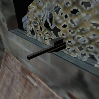 Vista detallada del Rifle siendo usado por el Francotirador HECU