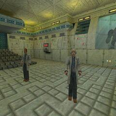 El jugador encerrado dentro de una habitación en LAB3.