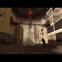 Rebeldes equipados con RPG luchando contra un Escuadrón de Soldados Overwatch