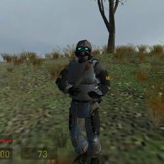 Soldado Overwatch equipado con un Bastón de Aturdimiento