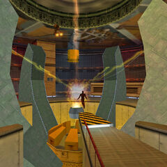 Freeman siendo transportado a Xen como es visto en Opposing Force