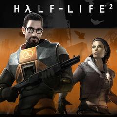 Gordon y Alyx en la portada de la edición de juego del año de Half-Life 2