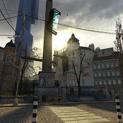 La Ciudadela vista desde la plaza de la Estación de Tren