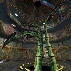 Los tres tentáculos que aparcen en el capítulo Foso Explosivo