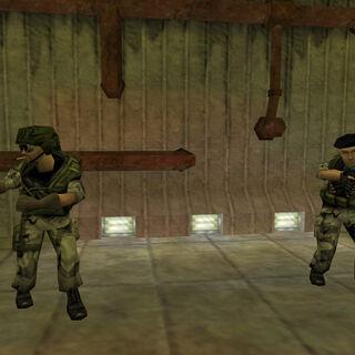 Ingeniero y otro soldado que fueron dejados atrás al igual que Shephard