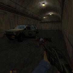 Científico y guardia muertos alrededor de un SUV