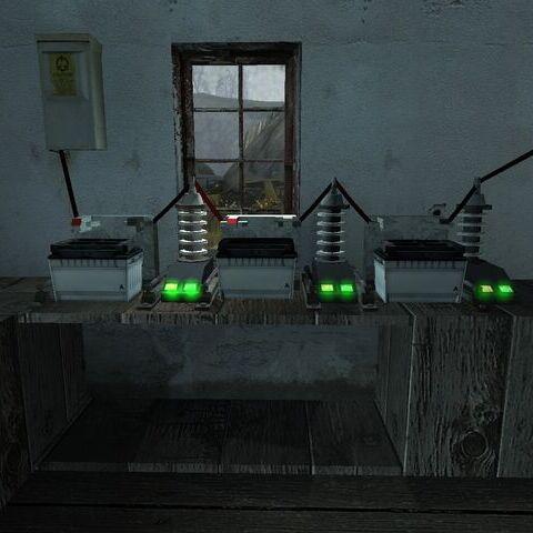 Vista del acertijo completo, ahora las luces que antes se encontraban rojas, ahora se las ve de color verde.